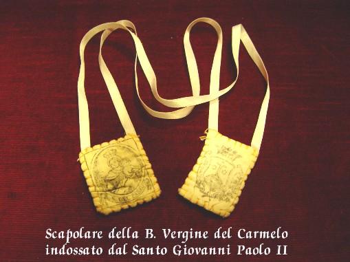 Peregrinatio Scapolare Mater Decor Carmeli